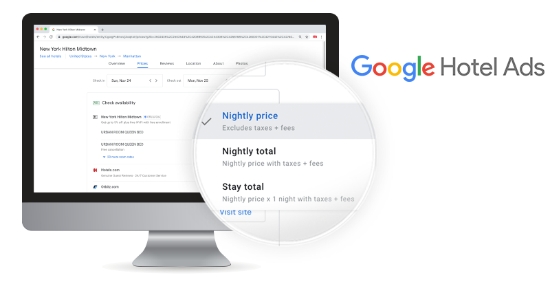 Google Hotel Ads increases transparency by displaying prices according to Mirai