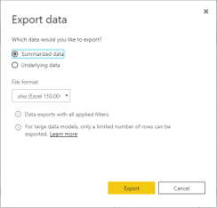 Export data BI Mirai