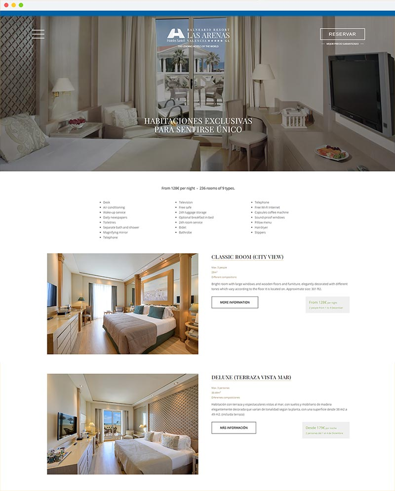 Web Design For Hotels By Mirai